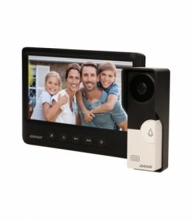 """Zestaw wideodomofonowy, bezsłuchawkowy, kolor, LCD 7"""", czarny, IMAGO Orno OR-VID-MC-1059/B"""