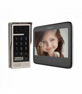 """Zestaw wideodomofonowy bezsłuchawkowy, kolor, LCD 7"""", z szyfratorem, natynkowy, czarny, DICO Orno OR-VID-VP-1055/B"""