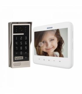 """Zestaw wideodomofonowy bezsłuchawkowy, kolor, LCD 7"""", z szyfratorem, natynkowy, biały, DICO Orno OR-VID-VP-1055/W"""