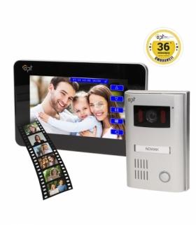 """Zestaw wideodomofonowy kolorowy 7"""", 2-żyłowy, pamięć, TEXTUS MEMO OR-VID-AT-1036"""