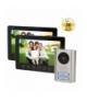 """Zestaw wideodomofonowy 2-rodzinny OPT bezsłuchawkowy, kolor 7"""", menu OSD, natynkowy, czarny, PARS MULTI"""