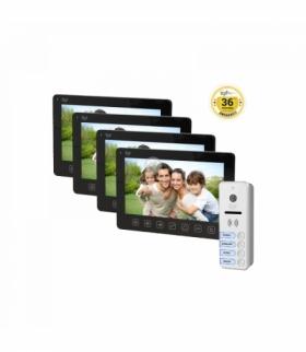 """Zestaw wideodomofonowy 4-rodzinny, bezsłuchawkowy, kolor, LCD 7"""", menu OSD, natynkowy, czarny, FORTIS MULTI Orno OR-VID-EX-2011/"""