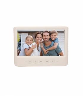 """Wideo monitor bezsłuchawkowy, kolorowy, LCD 7"""", do zestawu z serii IMAGO, otwieranie bramy, biały Orno OR-VID-MC-1059MV/W"""