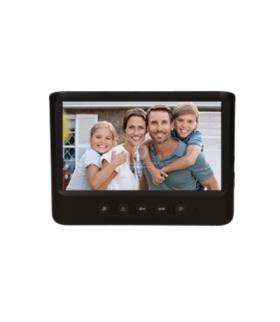 """Wideo monitor bezsłuchawkowy, kolorowy, LCD 7"""", do zestawu z serii IMAGO, otwieranie bramy, czarny Orno OR-VID-MC-1059MV/B"""
