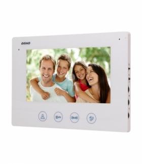 """Wideo monitor bezsłuchawkowy, kolorowy, LCD 7"""", do zestawu z serii CERES, otwieranie bramy, biały Orno OR-VID-ME-1056MV/W"""