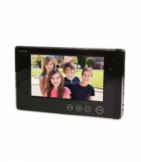 """Wideo monitor bezsłuchawkowy, kolorowy, LCD 7"""", do zestawów z serii ARX i CRUX, otwieranie bramy, czarny Orno OR-VID-VP-1009MV/B"""