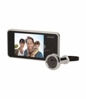 Elektroniczny wizjer do drzwi z szerokokątnym obiektywem 160°, srebrny