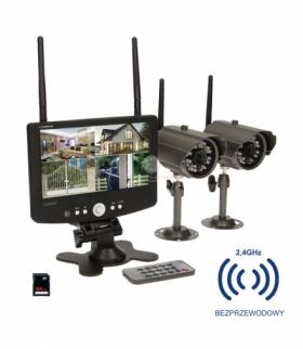 System do monitoringu 4-kanał. bezprzew.CCTV OR-MT-JE-1801