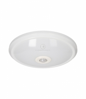 ZONDA LED, plafon z czujnikiem ruchu, 16W, 1100lm, 4000K, IP20, poliwęglan mleczny, biały Orno OR-PL-6076WLPMR4