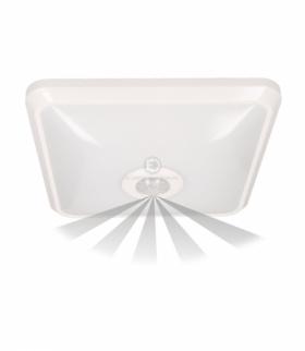 NYK LED, plafon z czujnikiem ruchu, 12W, 850lm, 4000K, IP20, poliwęglan mleczny, biały Orno OR-PL-6092WLPMR4