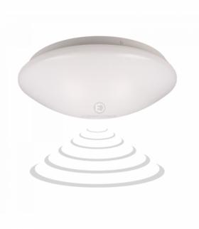 VEGA LED 1, plafon z mikrofalowym czujnikiem ruchu, 18W, 1260lm, 4000K, IP20, PMMA, biały Orno OR-PL-6095WLXMM4
