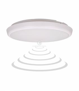 CERS LED, plafon z mikrofalowym czujnikiem ruchu 22W, 2000lm, IP54, 4000K, poliwęglan mleczny biały, funkcja przyciemnienia Orno
