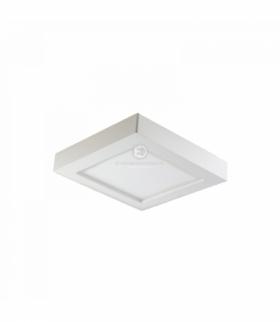 LETI LED, oprawa downlight, natynkowa, kwadratowa, 9W, 480lm, 3000K, biała, wbudowany zasilacz LED Orno OR-OD-6060WLX3