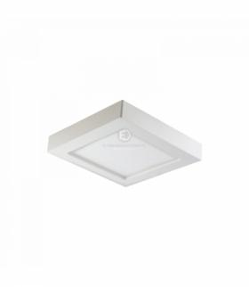 LETI LED, oprawa downlight, natynkowa, kwadratowa, 24W, 1900lm, 3000K, biała, wbudowany zasilacz LED Orno OR-OD-6075WLX3