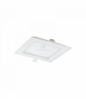 AKMAN LED, oprawa downlight, podtynkowa, kwadratowa, 9W, 480lm, 3000K, biała, wbudowany zasilacz LED Orno OR-OD-6054WLX3