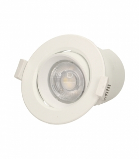 SARMA LED, oprawa downlight, podtynkowa, ruchoma, 9W, 720lm, 4000K, wbudowany zasilacz LED Orno OR-OD-6084WLX4