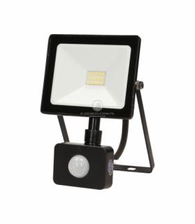 LEDO LED, naświetlacz z czujnikiem ruchu, 10W, 800lm, IP44, 4000K, czarny Orno OR-NL-6079BLR4