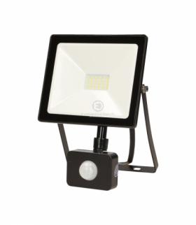 LEDO LED, naświetlacz z czujnikiem ruchu, 20W, 1600lm, IP44, 4000K, czarny Orno OR-NL-6080BLR4