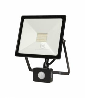 LEDO LED, naświetlacz z czujnikiem ruchu, 30W, 2400lm, IP44, 4000K, czarny Orno OR-NL-6081BLR4
