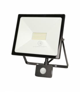 LEDO LED, naświetlacz z czujnikiem ruchu, 50W, 4000lm, IP44, 4000K, czarny Orno OR-NL-6082BLR4