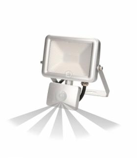 Naświetlacz SLIM LED 10W czuj. ruch. IP44, srebrny