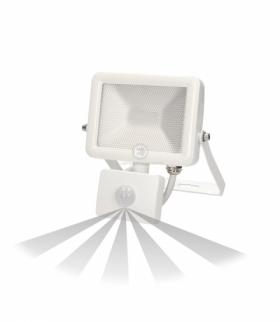 Naświetlacz SLIM LED 10W czuj. ruch. IP44, biały