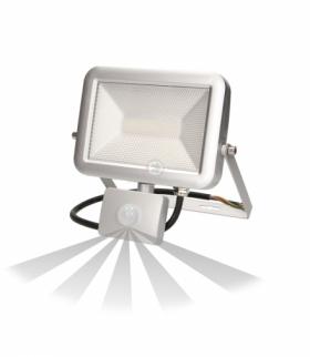 Naświetlacz SLIM LED 20W czuj. ruch. IP44, srebrny