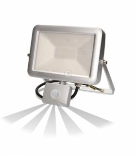 Naświetlacz SLIM LED 30W czuj. ruch. IP44, srebrny