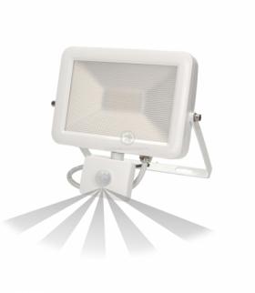 Naświetlacz SLIM LED 30W czuj. ruch. IP44, biały
