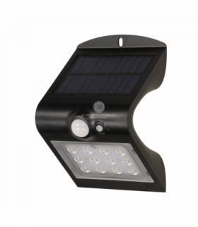 SILOE LED, lampa solarna z czujnikiem ruchu, podwójne źródło światła, 1,5W, 190lm, 1200mAh, IP65, 4000K, czarna Orno OR-SL-6083B