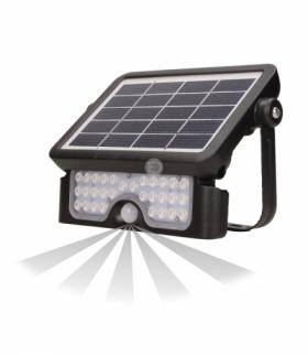 LUX LED, naświetlacz solarny z czujnikiem ruchu 5W, 500lm, 2x1500mAh, IP65, czarny Orno OR-SL-6108BLR4