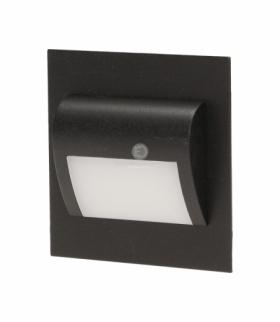 DRACO LED, oprawa schodowa, 1,2W, 6000K, 100lm, czarna Orno OR-OS-1529L6/B