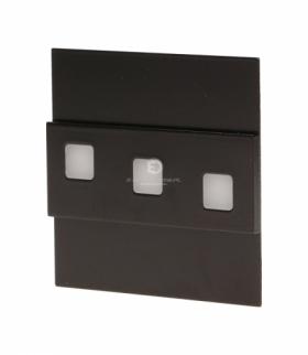 LEPUS LED, oprawa schodowa, 1,2W, 6000K, 100lm, czarna Orno OR-OS-1531L6/B