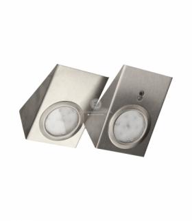 Zestaw opraw podszafkowych LED 2,5W, 180lm, z wyłącznikiem bezdotykowym,, INOX Orno OR-AE-13118