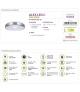 Plafoniera SMD LED ALEX LED C 18W 4000K IDEUS 03563