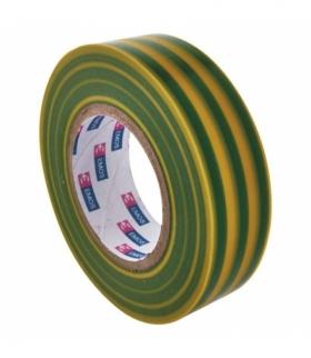 Taśma izolacyjna PVC 19mm / 20m żółto-zielona EMOS F61925