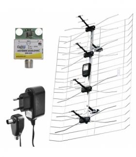 Antena zewnętrzna EM-025, 0–100 km DVB-T2 / filtr LTE/ 4G EMOS J0665