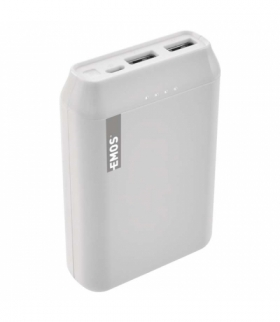 Powerbank EMOS ALPHA 10000 mAh biały + kabel USB-C EMOS B0522W