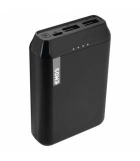 Powerbank EMOS ALPHA 10000 mAh czarny + kabel USB-C EMOS B0522B