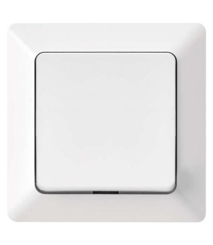 Wyłącznik krzyżowy 1P IP20 błyszczący biały EMOS A6100.2