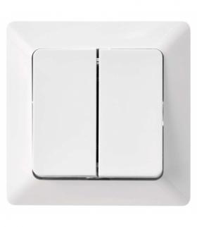 Wyłącznik schodowy 2P IP20 biały błyszczący biały EMOS A6100.3