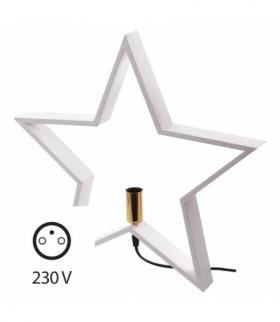 Dekoracje - świecznik gwiazda, na żarówkę E14, biały EMOS ZY2214