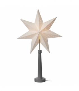 Dekoracje- świecznik papier. gwiazda, na żarówkę E14, szary EMOS ZY2215