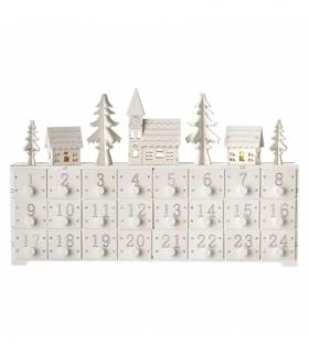 Dekoracje- 3LED kalendarz adwent 37 × 23 cm, 2× AA WW, timer EMOS ZY2208