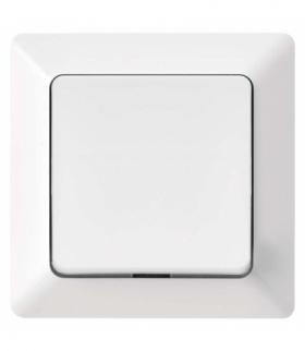 Wyłącznik pojedynczy 1/0, zwierny, dzwonkowy IP20 błyszczący biały EMOS A6100.4