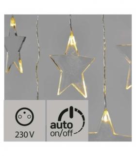 Dekoracje- 8 LED sople gwiazdki IP44 WW, timer EMOS ZY2264