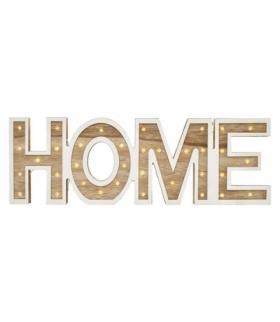 Dekoracje - 38 LED napis HOME, 2× AA, WW, timer EMOS ZY2205
