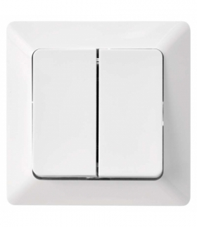 Wyłącznik świecznikowy 2P IP20 błyszczący biały EMOS A6100.1