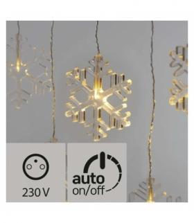 Dekoracje- 8 LED sople śnieżynki IP44 WW, timer EMOS ZY2265