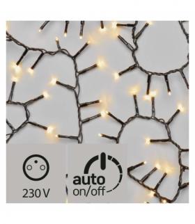 Lampki choinkowe 200 LED 4m IP44, ciepła biel, czarny, timer EMOS ZY2180T